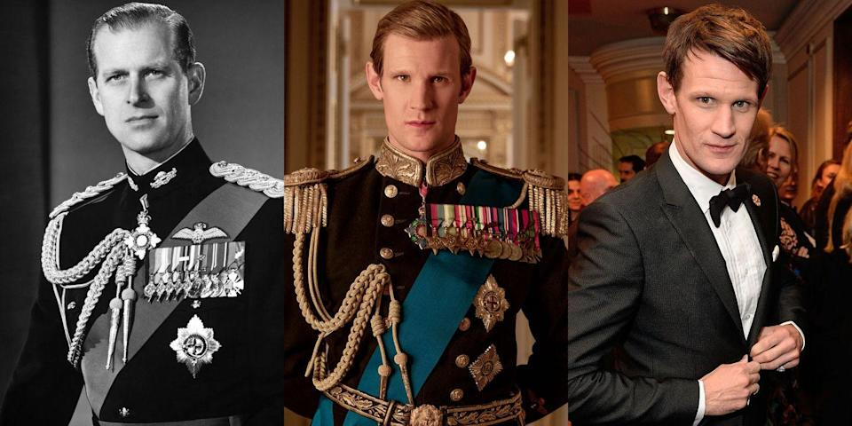 <p>Matt Smith, of <em>Doctor Who</em> fame, played Prince Philip in the first two seasons of <em>The</em><em> Crown</em>.</p>