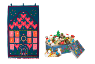 """<p>Biscuiteers called on Sophie Conran to design this gorgeous reusable cloth calendar, which is handcrafted in India using traditional techniques. Though you can fill it yourself, it's designed to be stocked with the too-pretty-to-eat hand iced biscuits from their advent luxe tin. We're more than happy to oblige. Advent Calendar, £125; Advent Biscuit Tin, £58, <a href=""""https://www.biscuiteers.com/"""" rel=""""nofollow noopener"""" target=""""_blank"""" data-ylk=""""slk:biscuiteers.com"""" class=""""link rapid-noclick-resp"""">biscuiteers.com</a></p>"""