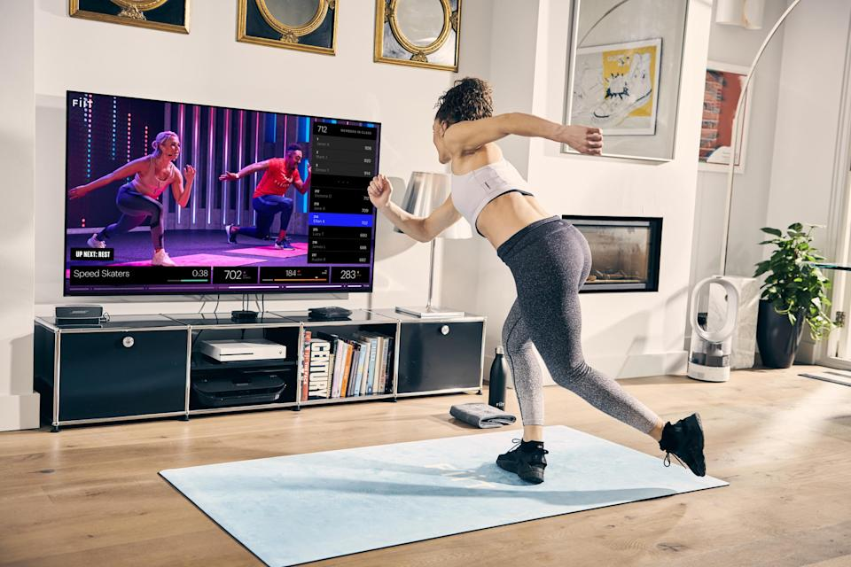 Step it up: you don't need a gym full of equipment to stay moving — there are number of high-intensity virtual classes for shaking off lockdown lethargy, like Fiit, pictured