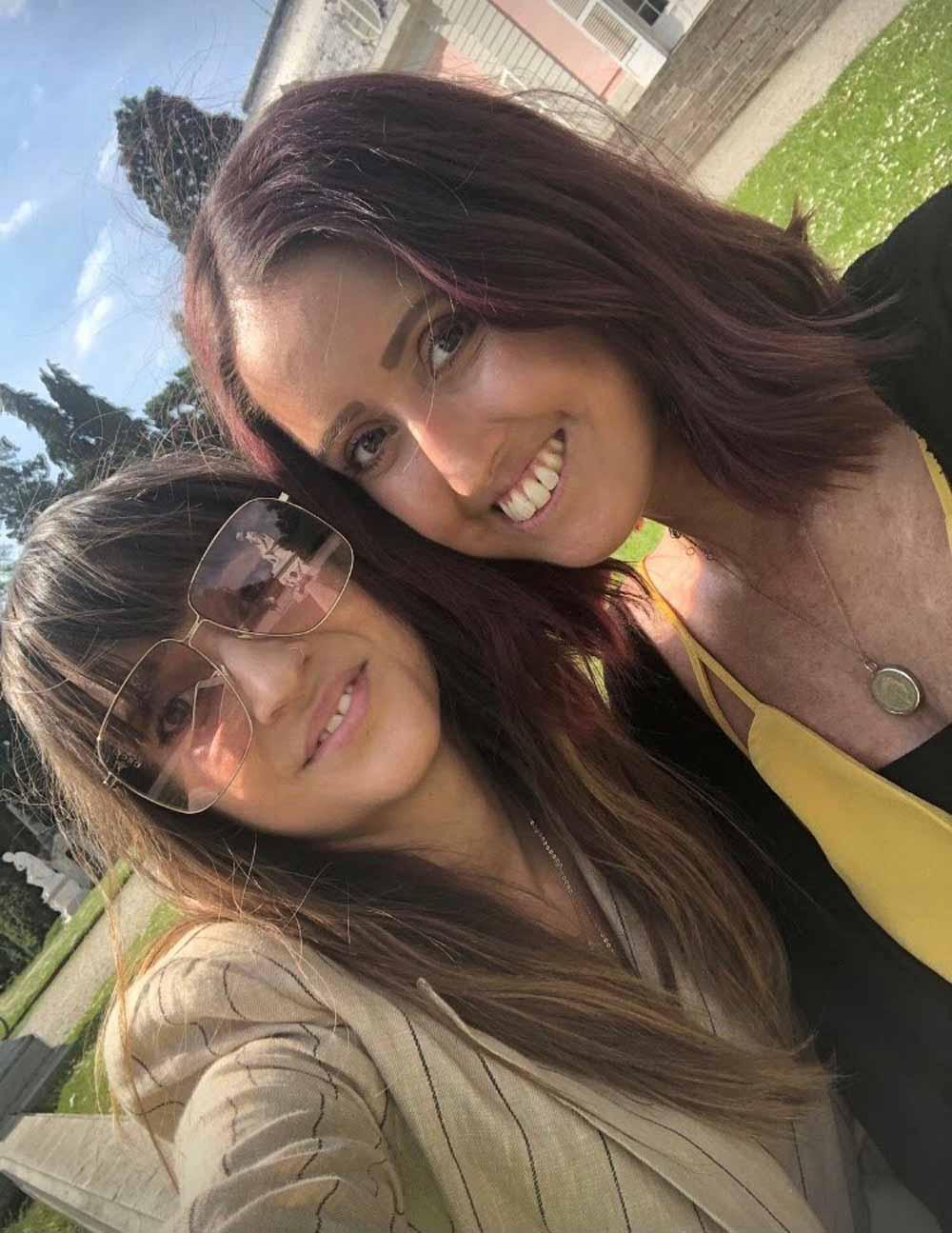 Georgina, pictured here with her sister Alex, is raising awareness about hidden disabilities during pulmonary fibrosis month (Collect/PA Real Life).