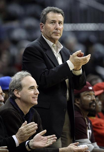 Hawks owners Michael Gearon (left) and Bruce Levenson. (AP)