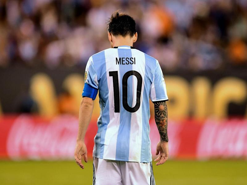 Messi will miss four of Argentina's five remaining qualifying games (Getty)