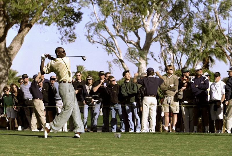 Michael Jordan decided to go golfing instead of visiting The White House in 1991. (Donald Miralle /Allsport)