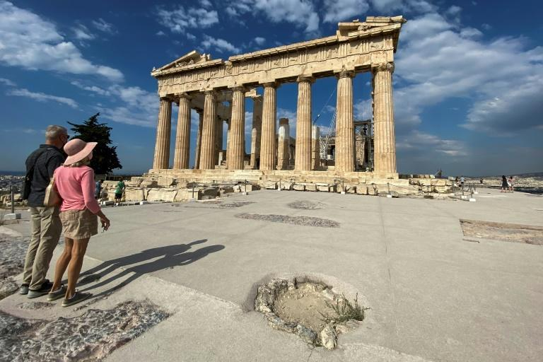 Critics say the hasty pouring of concrete at Greece's most iconic attraction is 'foreign' and 'stifling'