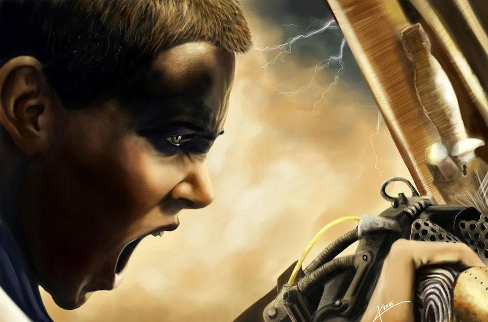 It's Max who gets his name in the title but, as many would argue, this is Furiosa's movie. She has generated the most fan art we've seen, like this hyper-real painting from CasstieL13.