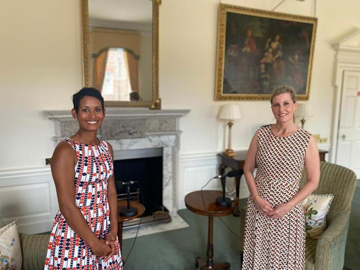 Sophie, the Countess of Wessex, spoke to Naga Munchetty about missing her father-in-law Prince Philip. (Royal Family)