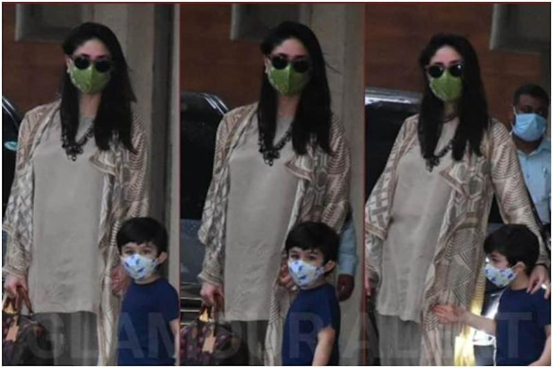 Kareena Kapoor Khan Snapped with Little Taimur, See Pic