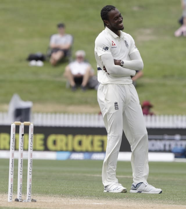 England's Jofra Archer saw the funny side of things (Mark Baker/AP)