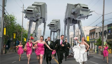 Star Wars wedding photo goes viral