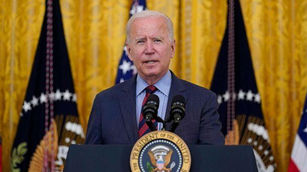 PHOTO: President Joe Biden speaks about the coronavirus pandemic in the East Room of the White House in Washington, Aug. 3, 2021. (Susan Walsh/AP)