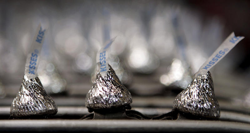 Hershey's profit falls 50 percent, but expects sweeter year