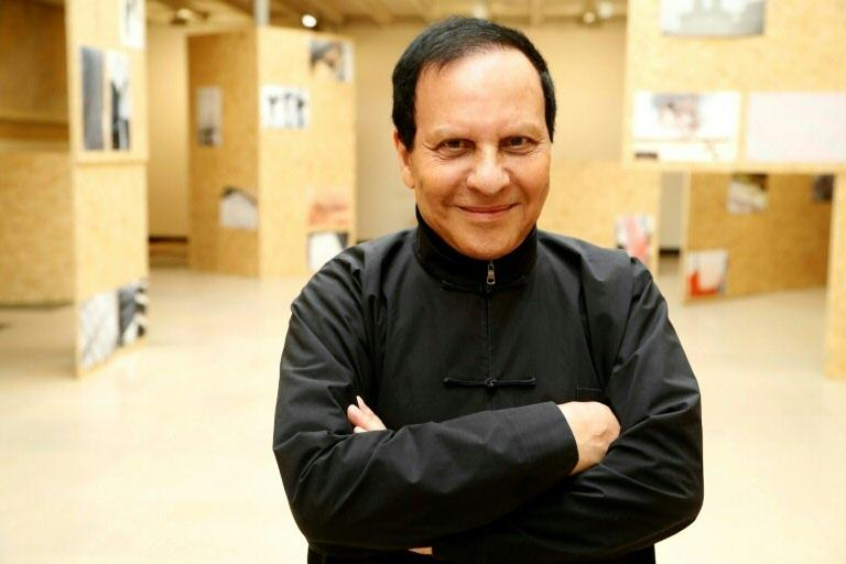 Franco-Tunisien fashion designer Azzedine Alaia poses for a photograph at the Maison Alaia in Paris on September 7, 2017