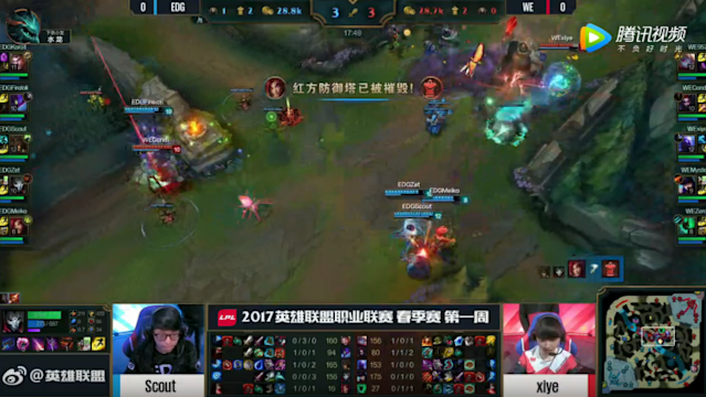 EDG avoid the flank using stronger top side vision and WE's poor timing