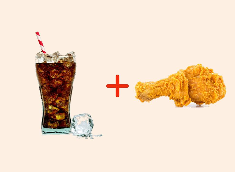 coke with chicken amazing food pairings