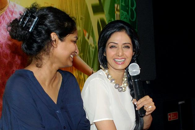 Spotted: Sridevi and daughters at poster launch
