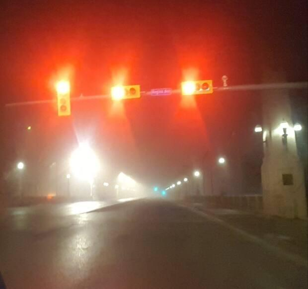 The fog settled over Regina making for a spooky morning. (Kevin O'Connor/CBC - image credit)