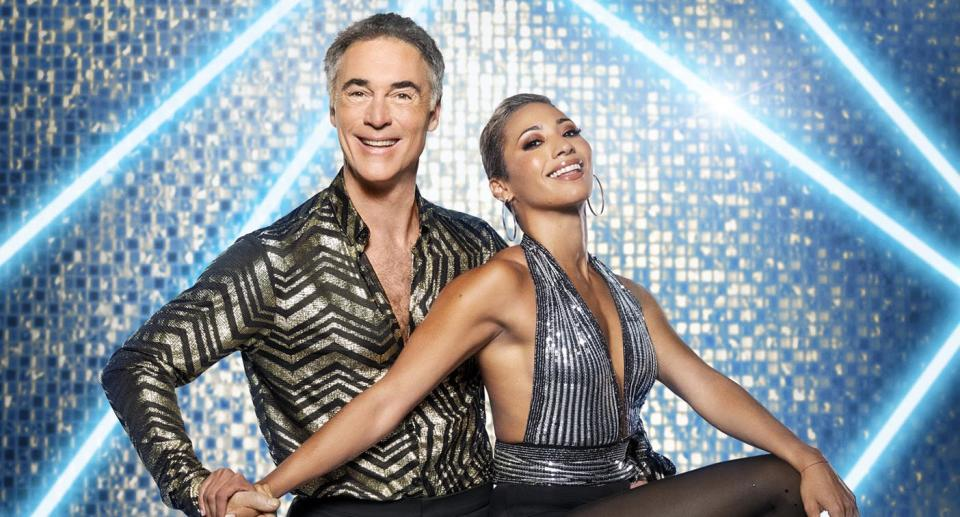 Greg Wise and Karen Hauer have made a bold choice for week two. (BBC)