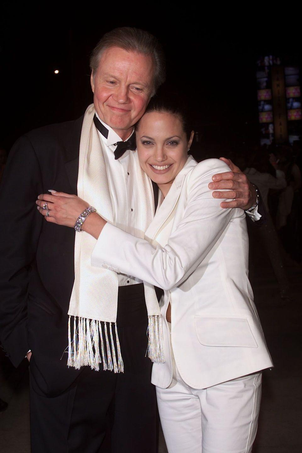 """<p><strong>Famous parent(s)</strong>: actor Jon Voigt<br><strong>What it was like</strong>: Angelina has been open about her tumultuous relationship with her father. """"My father and I don't speak,"""" she once <a href=""""http://www.dailymail.co.uk/tvshowbiz/article-4501036/Angelina-Jolie-bonds-Jon-Voight-family-dinner.html"""" rel=""""nofollow noopener"""" target=""""_blank"""" data-ylk=""""slk:said"""" class=""""link rapid-noclick-resp"""">said</a>. """"I don't believe that somebody's family becomes their blood. Because my son's adopted, and families are earned.""""</p>"""