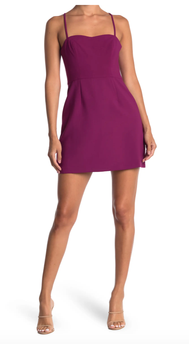 """<h2>French Connection Whisper Light Sweetheart Mini Dress</h2><br>Nothing says summer fun like <a href=""""https://www.refinery29.com/en-us/cheap-sundresses"""" rel=""""nofollow noopener"""" target=""""_blank"""" data-ylk=""""slk:a mini dress"""" class=""""link rapid-noclick-resp"""">a mini dress</a> that's easy, breezy, and light on your wallet. Keep it casual in sneakers, dress it up with strappy heels, hey — you can even wear it barefoot on the beach. <br><br><strong>The Hype:</strong> 4.1 out of 5 stars; 39 reviews on <a href=""""https://www.nordstromrack.com/s/socialite-racerback-v-neck-mini-dress/6097288"""" rel=""""nofollow noopener"""" target=""""_blank"""" data-ylk=""""slk:NordstromRack.com"""" class=""""link rapid-noclick-resp"""">NordstromRack.com</a><br><br><strong>What They're Saying:</strong> """"Great fitted mini dress with a flare at the bottom. Casual enough for day wear. This dress is perfection. I'm 5'8 and 140 lbs and it was true to size."""" — Steph, NordstromRack.com reviewer<br><br><br><strong>French Connection</strong> Whisper Light Sweetheart Minidress, $, available at <a href=""""https://go.skimresources.com/?id=30283X879131&url=https%3A%2F%2Fwww.nordstromrack.com%2Fs%2Ffrench-connection-whisper-light-sweetheart-minidress%2F4904184"""" rel=""""nofollow noopener"""" target=""""_blank"""" data-ylk=""""slk:Nordstrom Rack"""" class=""""link rapid-noclick-resp"""">Nordstrom Rack</a>"""