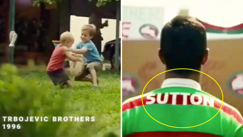 The new NRL ad has some inaccuracies in the Trbokevic scene and Rabbitohs march scene.