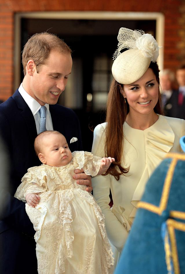 Prince George was also baptised in the Chapel Royal, St. James's Palace. (Photo: Getty)