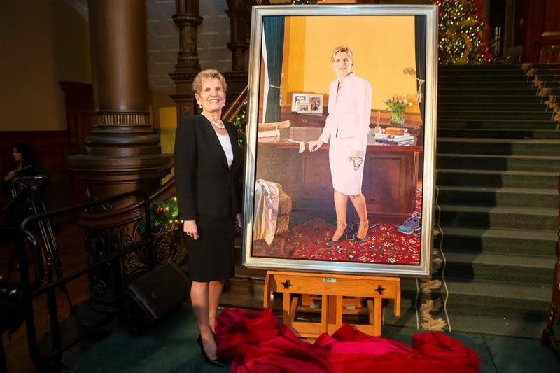 Official portrait of former premier Kathleen Wynne unveiled during ceremony