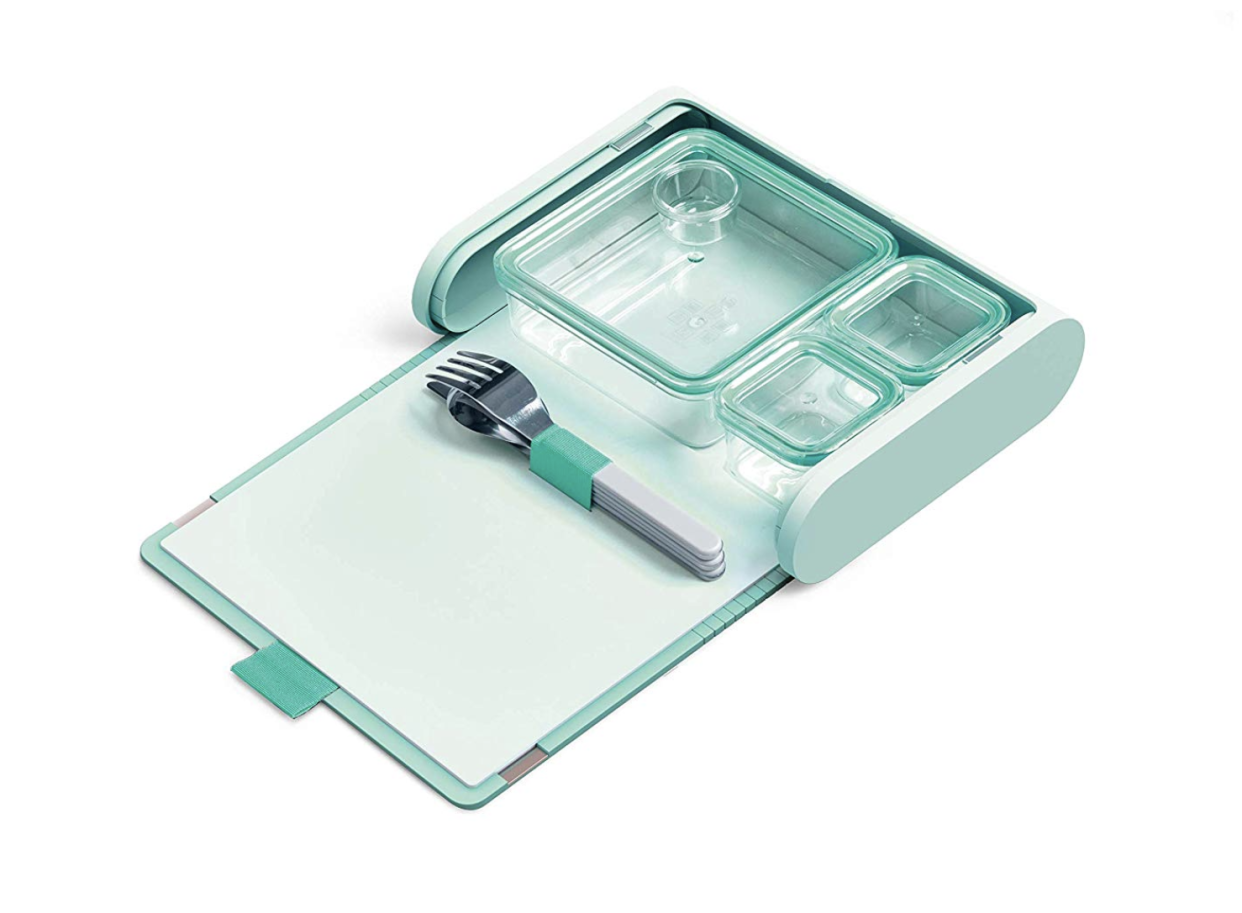 Prepd Pack Lunchbox with Modular Food Storage Containers and Magnetic Cutlery