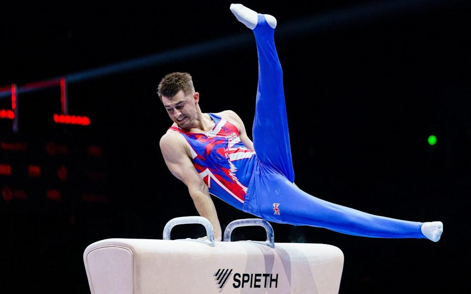 Max Whitlock of England competes on the pommel horse during the European Artistic Gymnastics Championships - Eurasia Sport Images/Getty Images