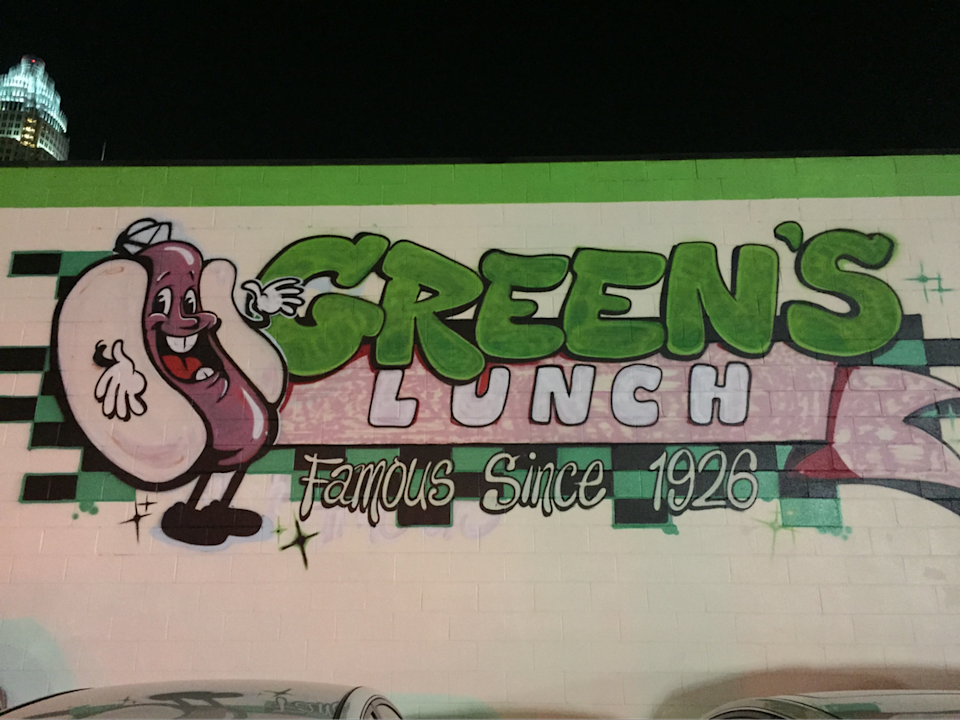 When you're in uptown, head to Green's Lunch and order your hot dog all the way.