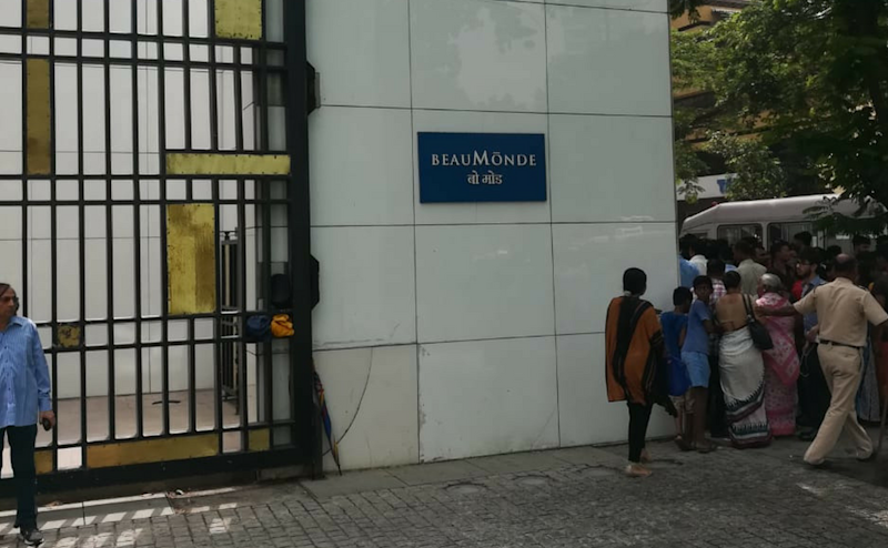 Reports have said that Beaumonde Apartments is where actor Deepika Padukone lives. Even though the actor is away, some of her staff members are there on the 25th floor of the 33-storey building. No casualties have been reported yet. Image courtesy: Nevin Thomas