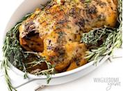 """<h2>13. Whole Chicken</h2> <p>Cool if we lick the plate?</p> <p><a class=""""link rapid-noclick-resp"""" href=""""https://www.wholesomeyum.com/crock-pot-whole-chicken-recipe/"""" rel=""""nofollow noopener"""" target=""""_blank"""" data-ylk=""""slk:Get the recipe"""">Get the recipe</a></p>"""
