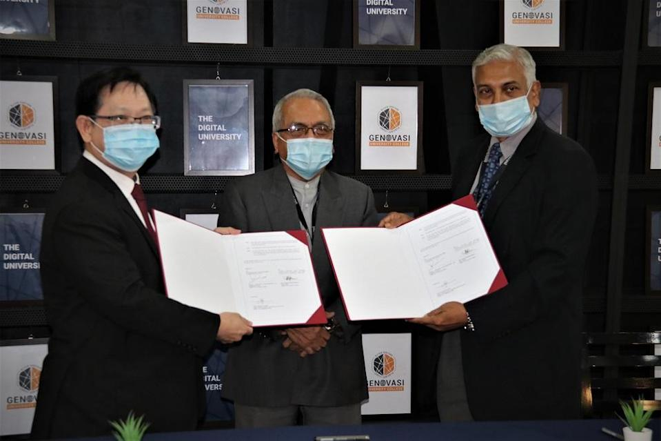 Genovasi University College (GUC) announced the appointment of four new adjunct professors in conjunction with the launch of a Traditional Chinese Medicine Wellness Centre March 26, 2021. — Picture by Genovasi University College