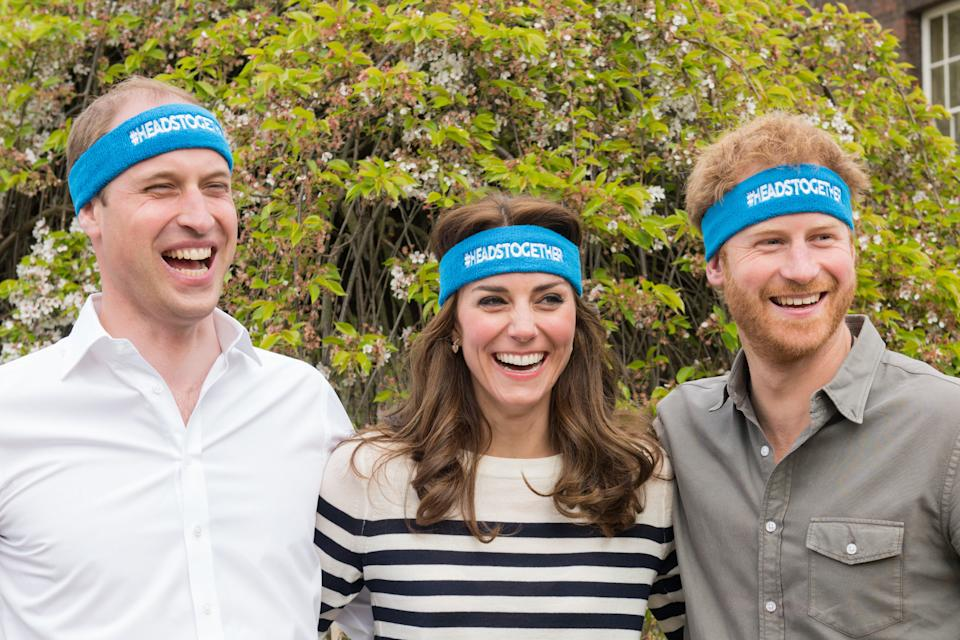 LONDON, ENGLAND - APRIL 21: The Duke and Duchess of Cambridge and Prince Harry are spearheading a new campaign called Heads Together in partnership with inspiring charities, which aims to change the national conversation on mental wellbeing. The campaign has the huge privilege of being the 2017 Virgin Money London Marathon Charity of the Year. At Kensington Palace on April 21, 2016 in London, England. (Photo by Nicky J Sims/Getty Images for Royal Foundation)