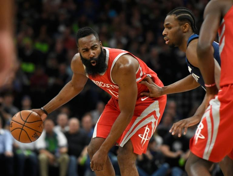 James Harden underscored his status as front-runner for the MVP award after leading a stunning third quarter performance that saw the Rockets explode for a 119-100 rout of the Minnesota Timberwolves