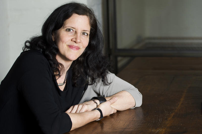 """This April 16, 2014 photo shows Pulitzer Prize and Polk Award winner Laura Poitras in New York to promote her documentary film """"1971,"""" premiering Friday at the Tribeca Film Festival. (Photo by Charles Sykes/Invision/AP)"""