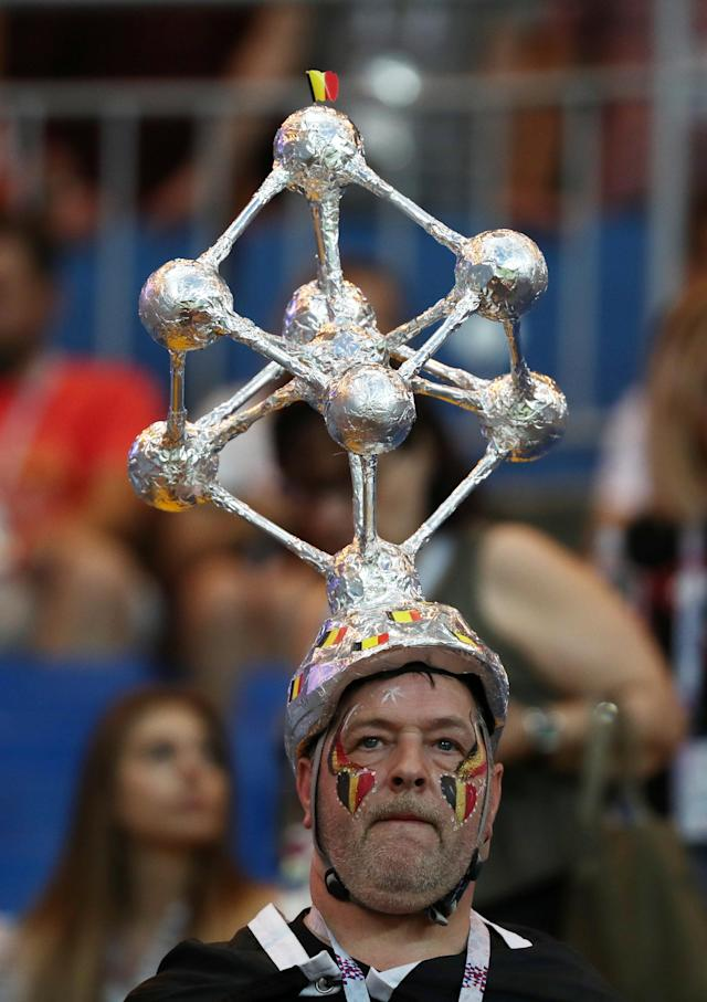 <p>Belgium fan before the match REUTERS/Sergio Perez </p>