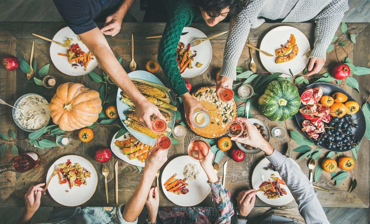 "<p>What happens when you combine a <a href=""https://www.countryliving.com/food-drinks/g637/thanksgiving-menus/"">hearty menu</a>, family, and tons of fun? <a href=""https://www.countryliving.com/life/a25020918/what-day-is-thanksgiving/"">Thanksgiving</a>, of course! Although the day can make for good memories, it can also be extremely stressful too. So when things start to get a bit crazy on <a href=""https://www.countryliving.com/food-drinks/g896/thanksgiving-side-dishes/"">Turkey Day</a>, simply scroll through this list of funny Thanksgiving quotes to know that you're not alone in feeling <em>way</em> too full or dreading your great grandma's visit. They'll have you cracking up, relaxing, and maybe even enjoying the day a little more. All of these silly sayings are total knee slappers that you'll want to <a href=""https://www.countryliving.com/food-drinks/g2059/thanksgiving-quotes/"">share with friends and family</a> at the table. One of our favorites was said by none other than Charlie Brown himself: ""I can't cook a Thanksgiving dinner. All I can make is cold cereal and maybe toast."" Another humorous one for all the <a href=""https://www.countryliving.com/food-drinks/g1384/thanksgiving-desserts/"">dessert lovers</a> out there is: ""Vegetables are a must on a diet. I suggest carrot cake, zucchini bread, and pumpkin pie,"" which was said by Jim Davis. And for those who enjoy tuning into sports on Thanksgiving will like this quote by Erma Bombeck: ""Thanksgiving dinners take 18 hours to prepare. They are consumed in 12 minutes. Half-times take 12 minutes. This is not a coincidence."" Those are just a few of the funny Thanksgiving quotes on this roundup. Scroll through to the rest for a much-needed laugh or two.<br></p>"