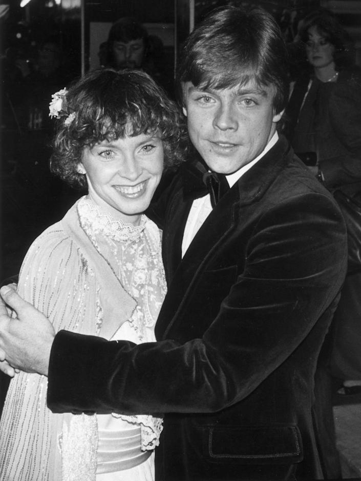 21st May 1980: Actor Mark Hamill, who played Luke Skywalker in the 'Star Wars' series of films, attending the royal premiere of 'The Empire Stikes Back' with his wife Mary Lou, in London. (Photo by Michael Fresco/Evening Standard/Getty Images)
