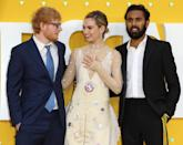 Ed Sheeran, Lily James and Himesh Patel attend the Yesterday UK Premiere McCallat the Odeon Luxe Leicester Square (Photo by Keith Mayhew / SOPA Images/Sipa USA)
