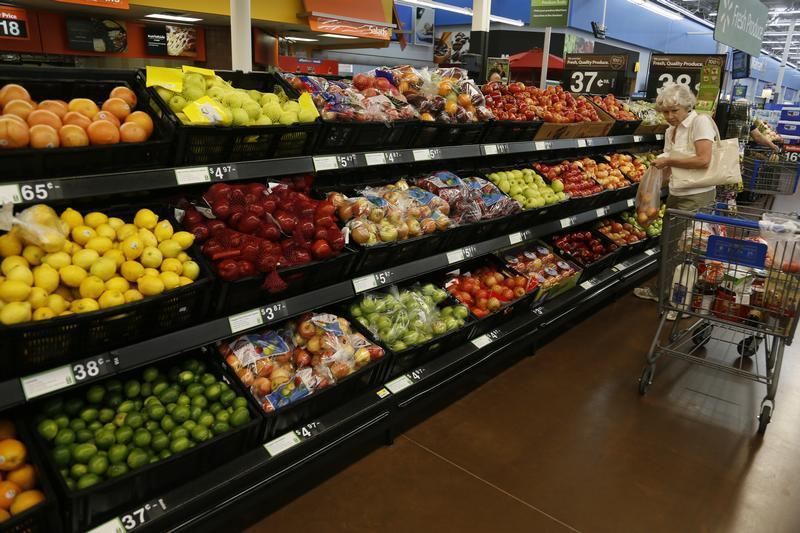 The fresh produce section is seen at a Walmart Supercenter in Rogers, Arkansas June 6, 2013. REUTERS/Rick Wilking (