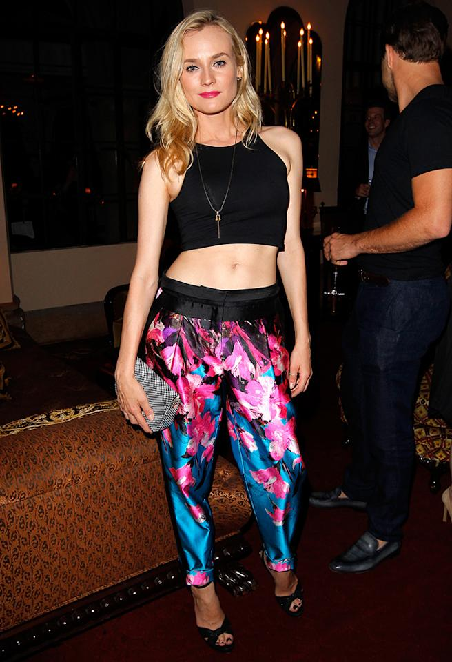 LOS ANGELES, CA - MAY 13:  Actress Diane Kruger attends Vogue and MAC Cosmetics dinner hosted by Lisa Love and John Demsey in honor of Prabal Gurung at the Chateau Marmont on Monday, May 13, 2013 in Los Angeles, California.  (Photo by Donato Sardella/Getty Images for MAC Cosmetics)
