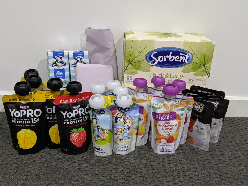Photo shows a Woolworths shop worth $430.87 that earned a mum 30 Ooshies.