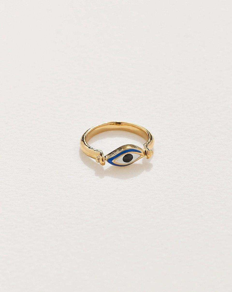 <p>This rotating <span>Pamela Love Enamel Eye Ring</span> ($160) can be worn with the enamel showing or with the third-eye view. Enjoy spinning it for multiple outer-facing options per day. </p>