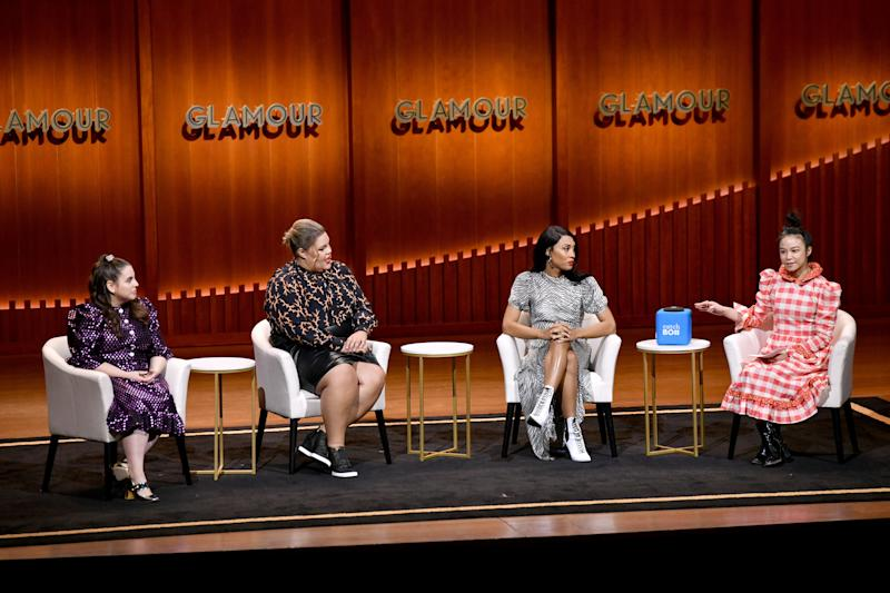 Beanie Feldstein, Britney Young, and MJ Rodriguez at the Glamour 2019 Women of the Year Summit.