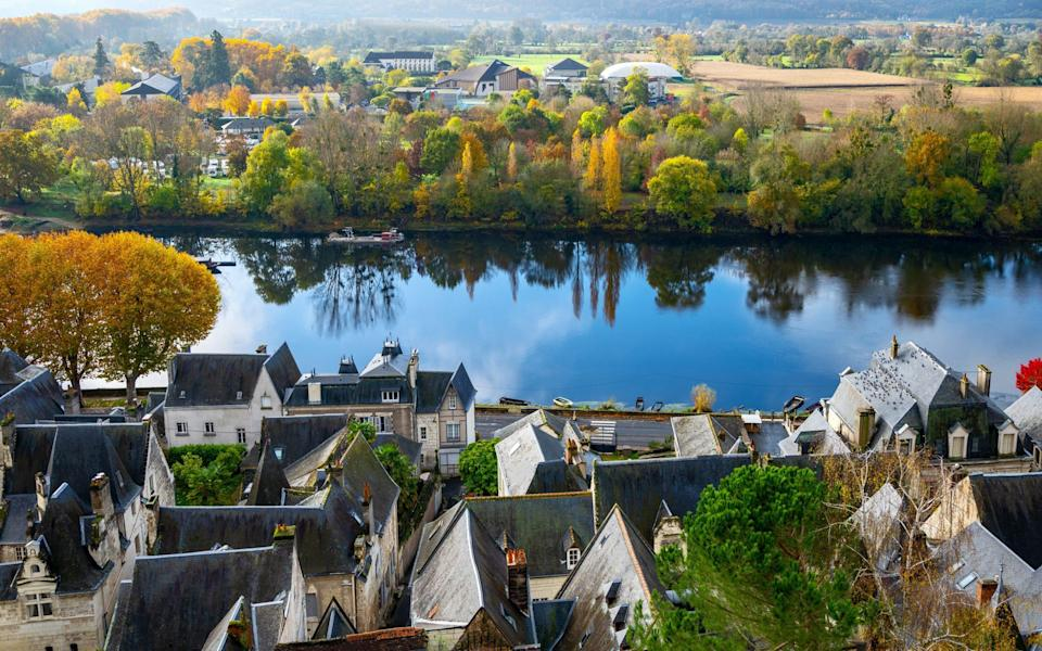 The medieval country seen from the Royal Fortress in Chinon, Loire - Getty