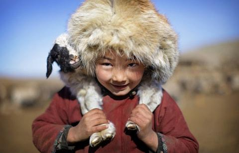 A young resident of Mongolia - Credit: TIMOTHY ALLEN