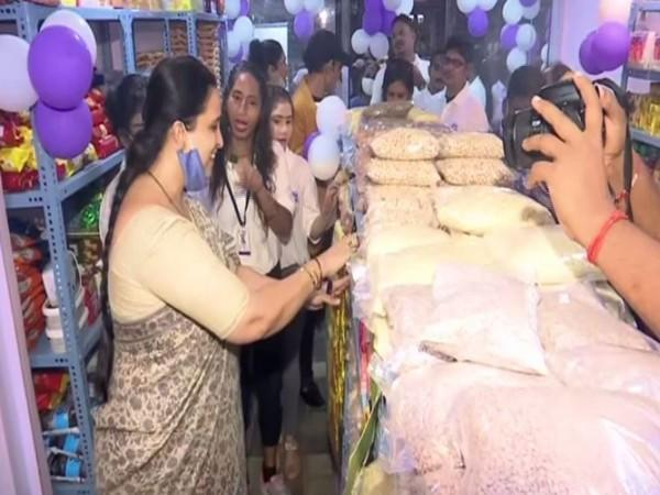 BJP Leader Chitra Wagh innuagrated the supermarket by acid attack survivors in Mumbai