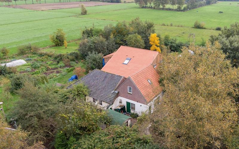 The farm, where the man and six children had been living in Ruinerwold, northern Netherlands - AFP