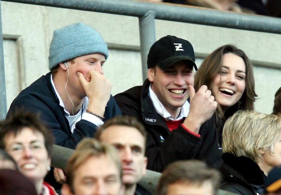 <p>Watching a game of rugby at the RBS Six Nations Championship in Twickenham alongside Prince William and Prince Harry. </p>