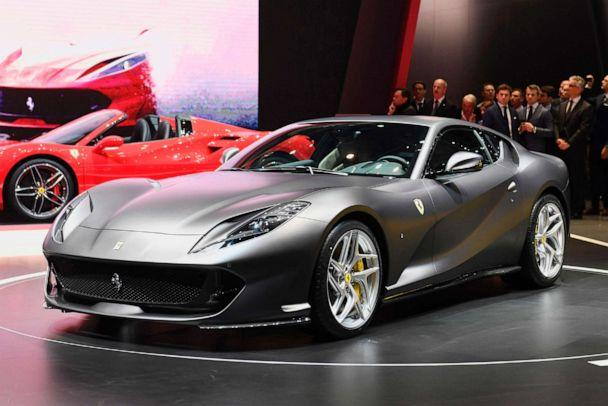 PHOTO: People look at the Ferrari 812 Superfast during the Geneva International Motor Show, March 7, 2017 in Geneva. (Alain Grosclaude/AFP/Getty Images, FILE)
